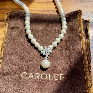 Carolee Pearl and Crystal Necklace